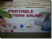Package steam sauna box