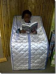 sauna with model